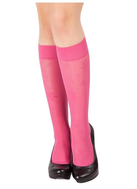 Pierre Cardin 3'Lü Desenli Dizaltı Çorap Fuşya